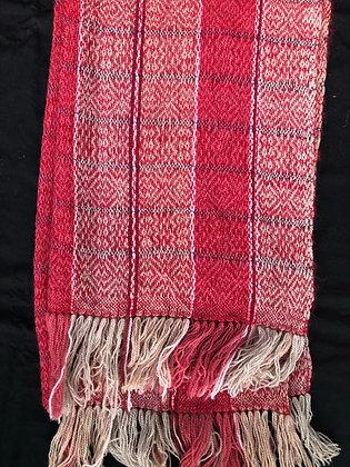 Chris'Tiss - écharpe laine gris-bordeaux