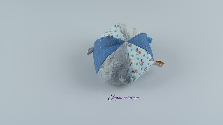Yapou Créations - Balle ludique - Blue jean's