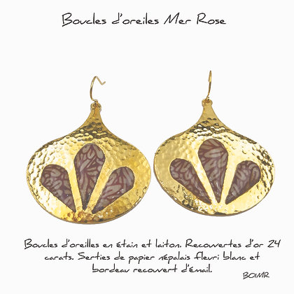 So Sol and Sea - Boucles d'oreille 1 Mer Rose