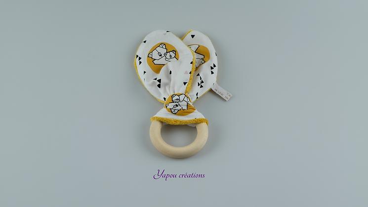 Yapou Créations - Anneau de dentition - Koalas jaunes