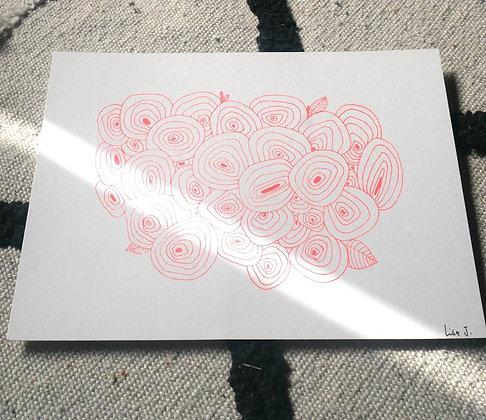 """Lisa Joseph - Affiche """"Roses"""""""
