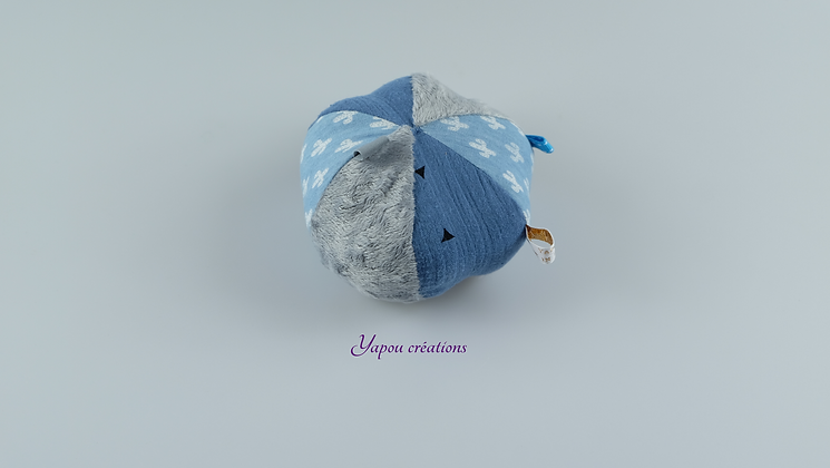 Yapou Créations - Balle ludique - Bleu cactus