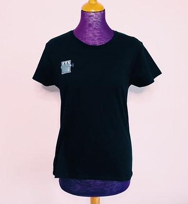 POP DAY - T-shirt noir sardines confinées - taille M