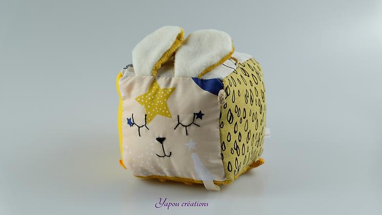 Yapou Créations - Cube d'éveil +++  - Jaune