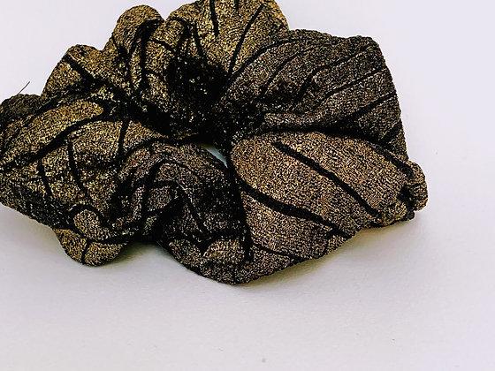 Presse Papier Ciseau - Chouchou noir, doré brillant
