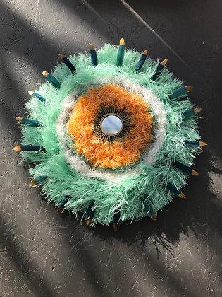 BB Art et Déco - Petit Horus (vert et orange)