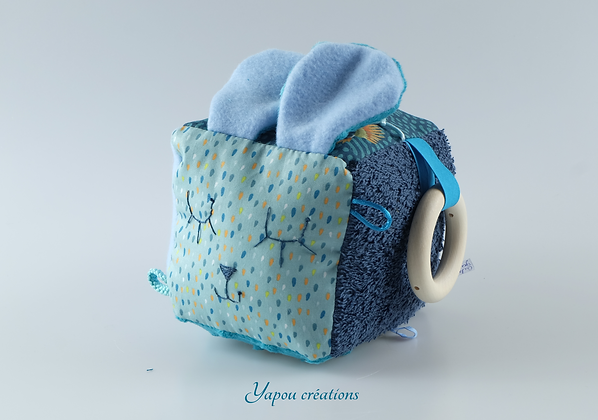Yapou Créations - Cube d'éveil - Gouttes