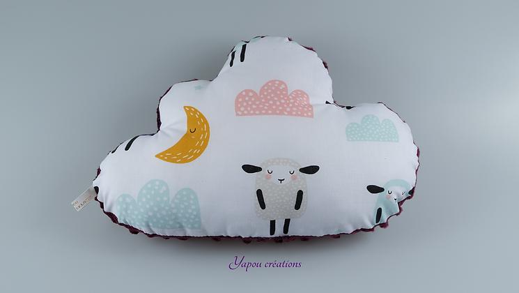 Yapou Créations - Coussin nuage - Moutons