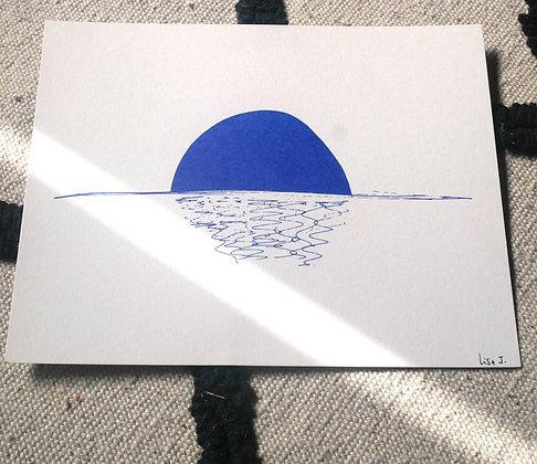 """Lisa Joseph - Affiche """"Couché de soleil"""""""