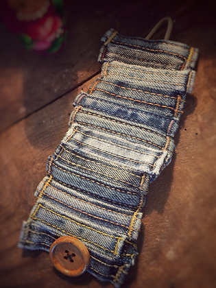 La Roulotte - Bracelet Manchette en jeans
