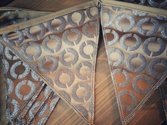 La Roulotte - Guirlande tissus fanions 4m