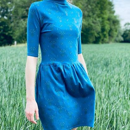 POP DAY - Robe bleue à motifs cerfs taille 36