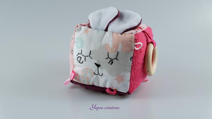 Yapou Créations - Cube d'éveil +++  - Rose renard