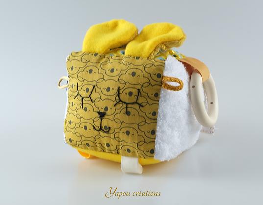 Yapou Créations - Cube d'éveil - Jaune