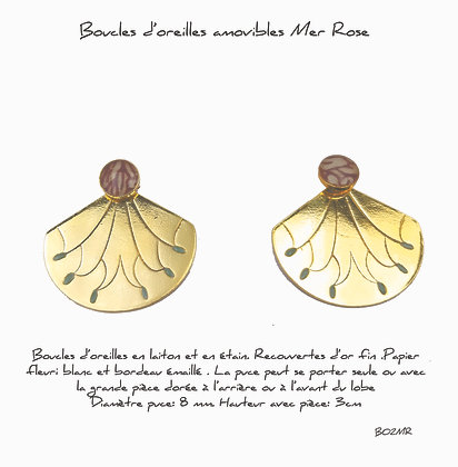 So Sol and Sea - Boucles d'oreille 2 Mer Rose