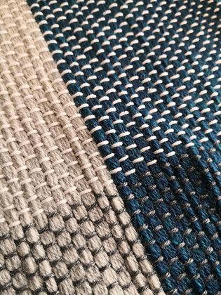 Laen - Couverture bébé - Gris et bleu