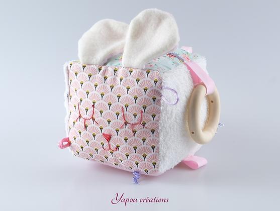 Yapou Créations - Cube d'éveil - Paons