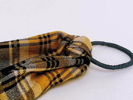 Presse Papier Ciseau - Chouchou suédine à carreaux et noeud long