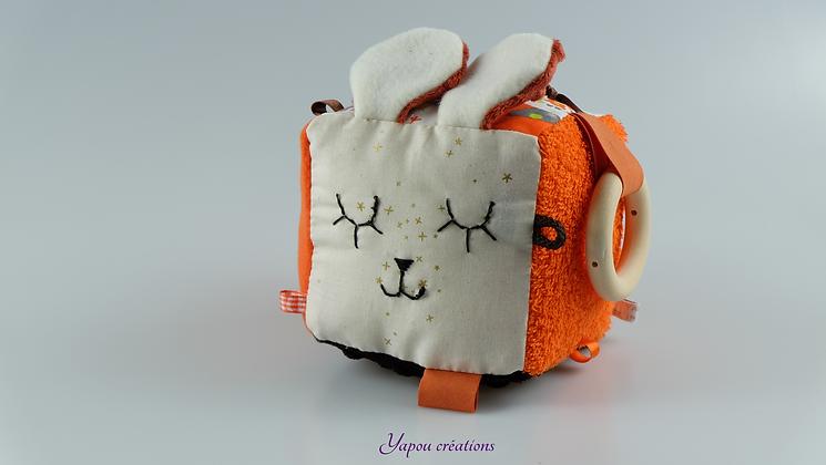 Yapou Créations - Cube d'éveil +++  - Orange