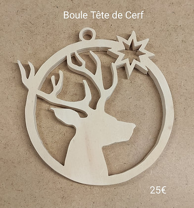 Slowgame - Boule Noël tête de cerf