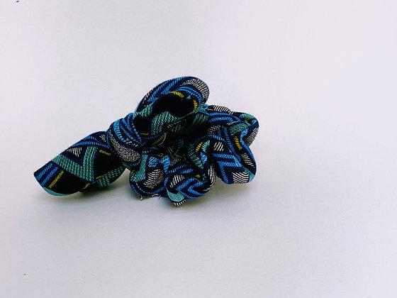 Presse Papier Ciseau - Chouchou bleu turquoise et motifs noeud