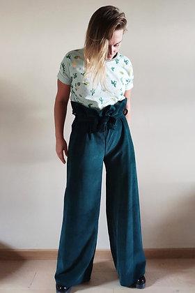 CR Creative - 70s velvet pants - petrol
