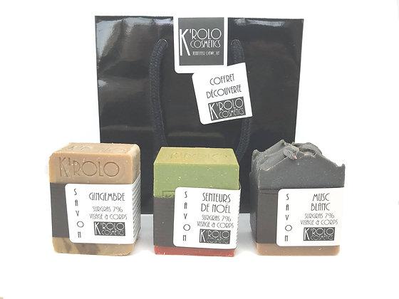 K'rolo Cosmetics - Coffret découverte trilogie de savons
