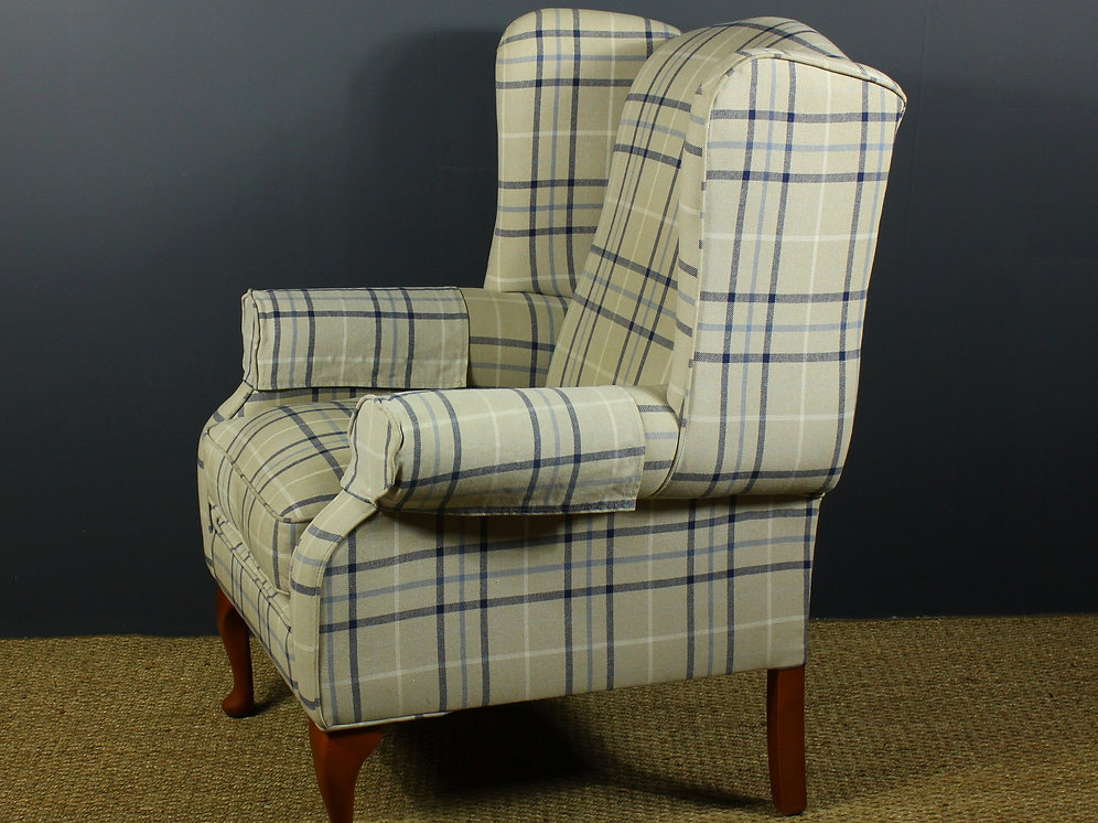 Quality Modern Upholstered Wing Back Armchair Tall Trees