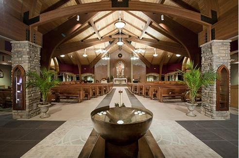 St. Francis of Assisi Baptismal Font Ful