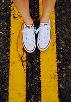 Tennis shoes and road.jpeg