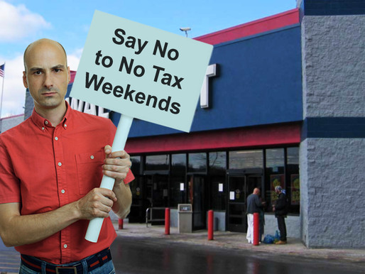 Local tax enthusiast protests Tennessee Tax Free Weekend