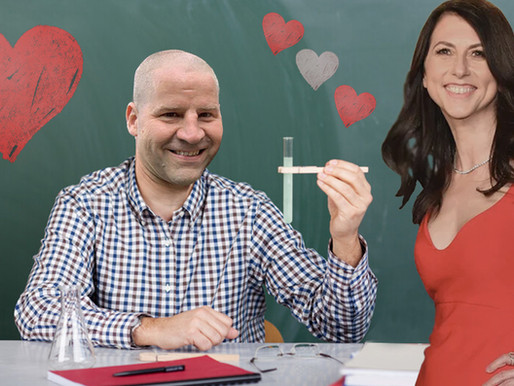 Science teacher fears MacKenzie Scott only married him for his wealth of knowledge