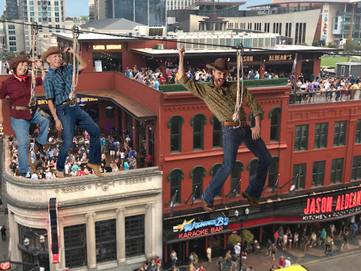 Nashville's newest rooftop honky-tonk excited to introduce Zip Line Dancing