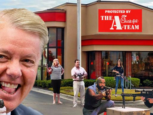 Sen. Lindsey Graham assembles elite Chick-fil-A-TEAM to fight war for chicken chain