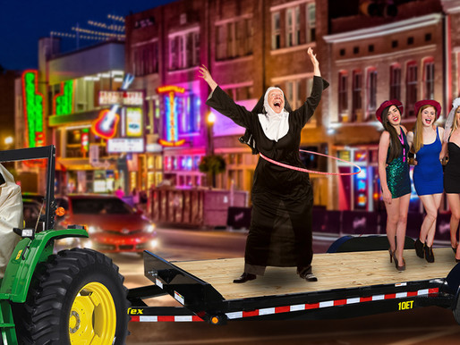 Nashville's new 'Fun Nun Tractor Run' offers sin-free alternative to party buses