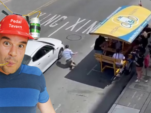 Nashville pedal taverns to now require drinking helmets after man's close call with car