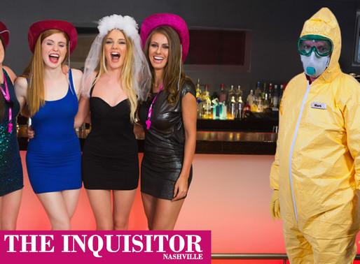 Nashville restaurants unveil new hazmat uniform for serving bachelorette parties