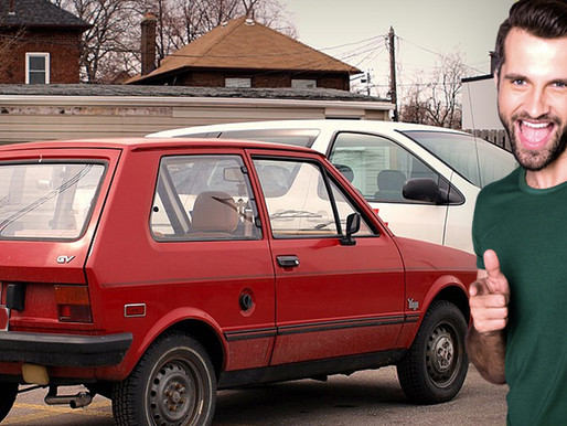Car rental company offering free upgrade to premium '87 Yugo for just $286 per day
