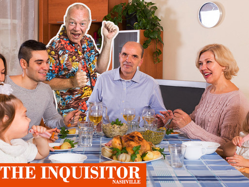 Creepy uncle who can't crash Thanksgiving sends cardboard cutout