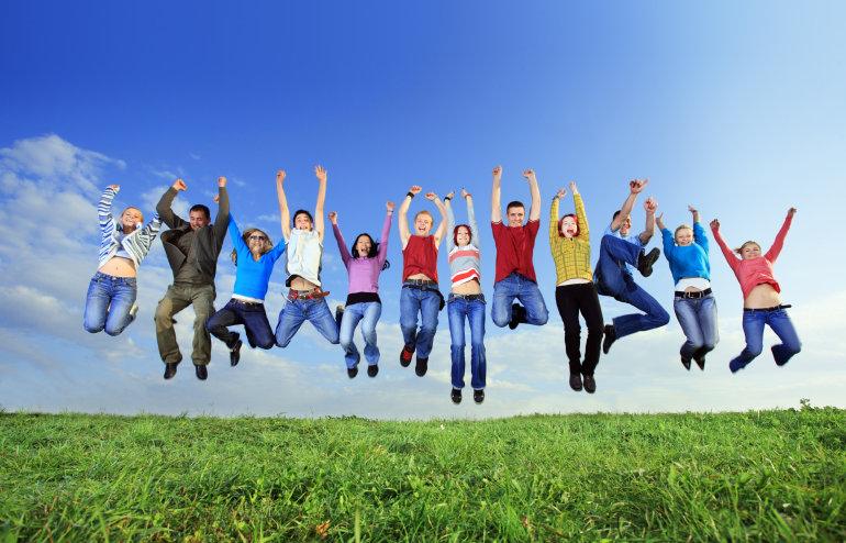 Dr. Berglund's patients jump for joy!