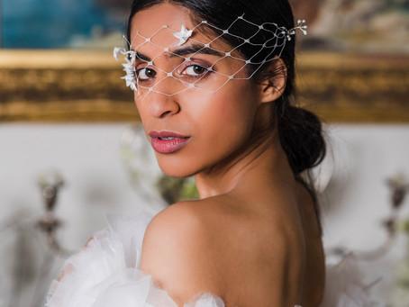 Regal Elegance - in crisp white and ivory