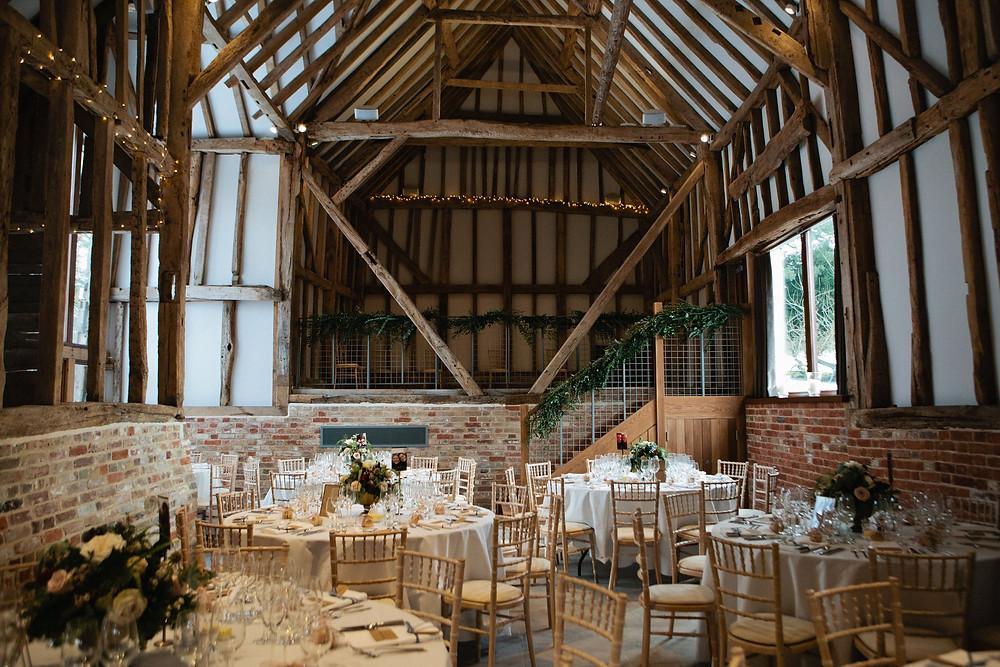 The Oak Barn, eco-friendly wedding venue in Kent