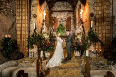 Small, intimate wedding at the Lost Village of Dode, Kent wedding venue