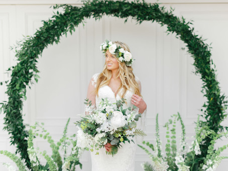 Natural Elegance - An abundance of green and white at Hayne House