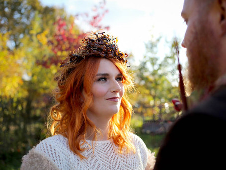 Kissed by Fire: a beautiful autumnal evening shoot