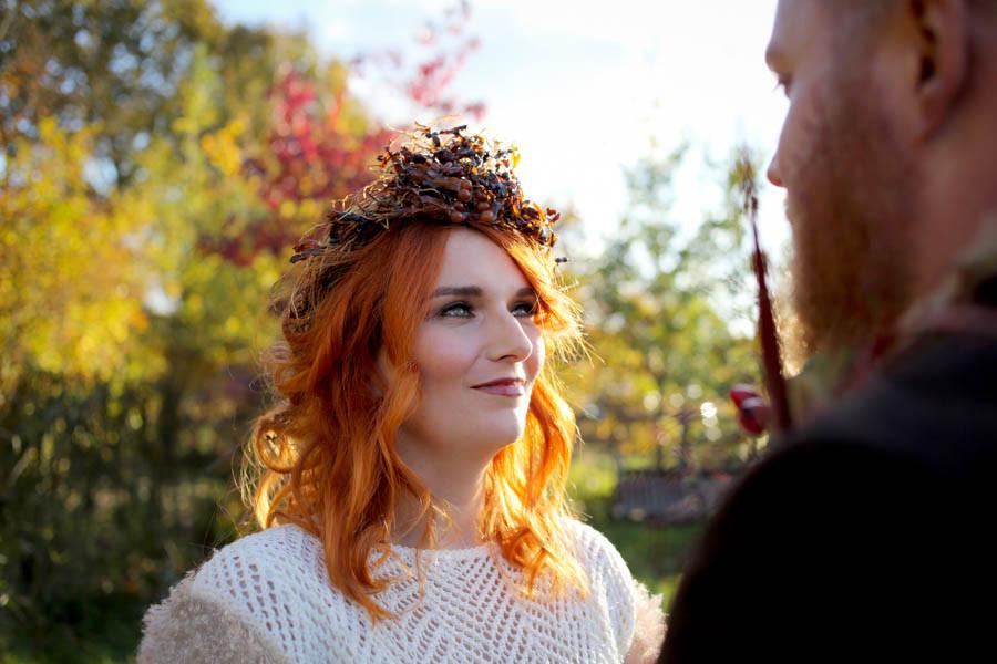 Nicki Komorowski Photography | Red haired bride | Autumnal Wedding | Outdoor wedding, woodland wedding
