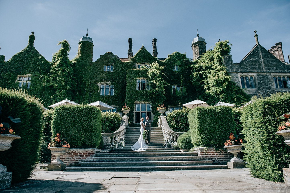 © Fleur Challis Photography | Wedding at Eastwell Manor, Kent wedding venue, green and white wedding