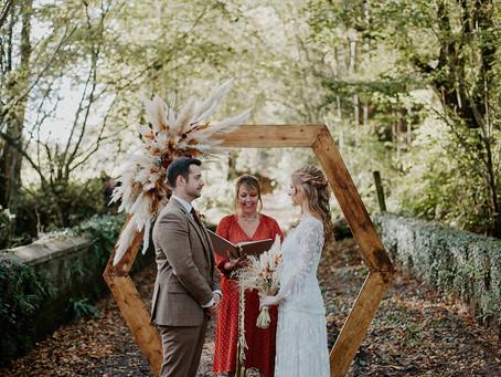 Romantic Autumnal Boho Wedding at Meadowfield
