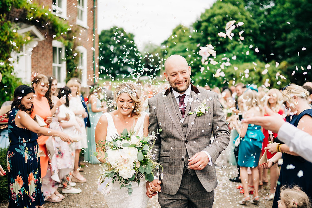 TJG Photography | Bride and groom confetti shot