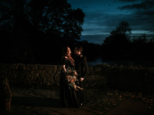 Kate & Joseph - Back to Black with this Stunning Halloween Wedding
